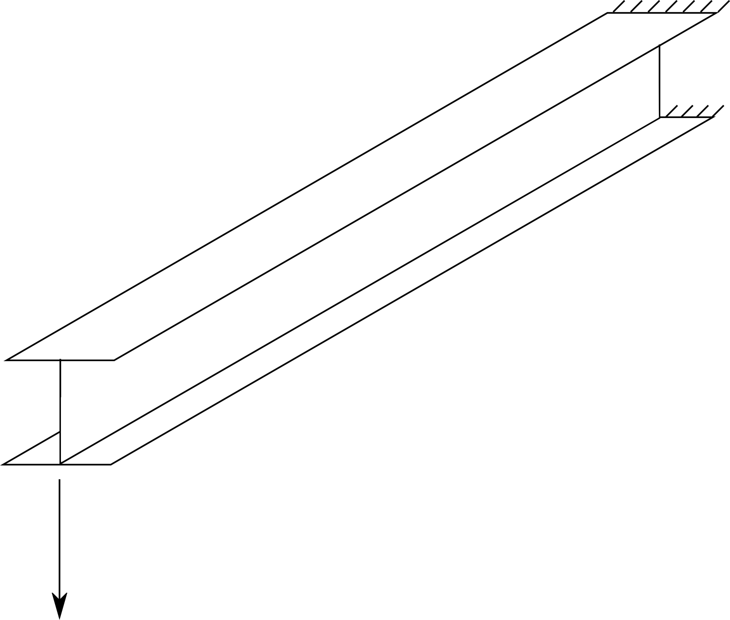 Cantilever beam with I-section