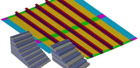 Size and Shape optimization of Composite Stiffened Panels via MLS free-mesh morphing