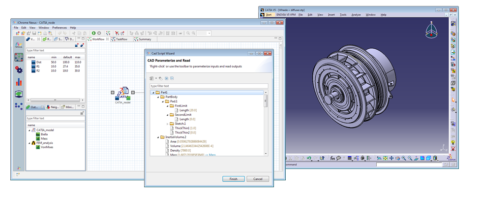 Nexus WorkFlow - CATIA integration node