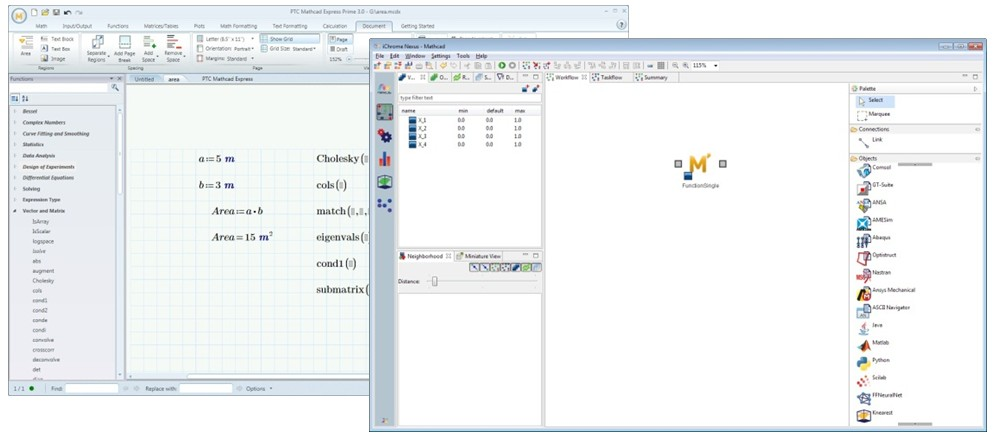 Mathcad Direct Integration Node
