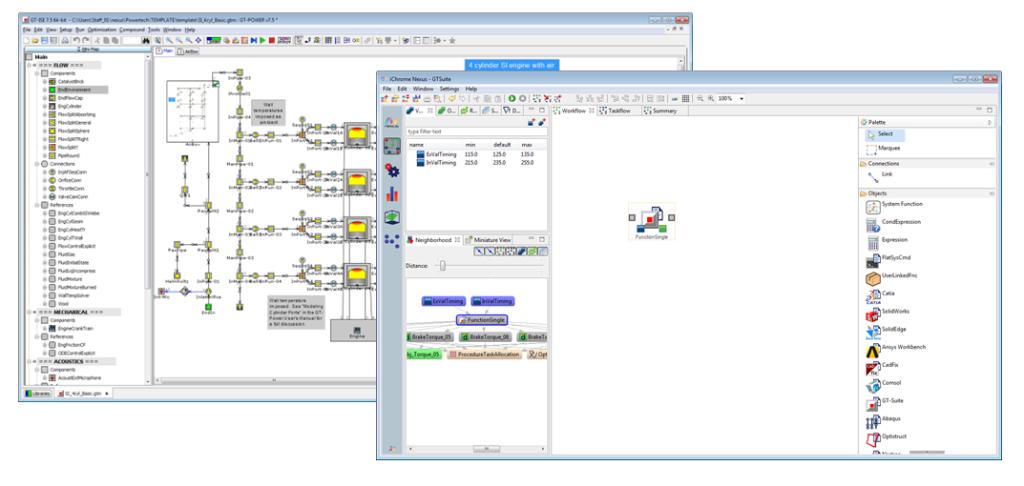 GT-SUITE Direct Integration Node in Nexus