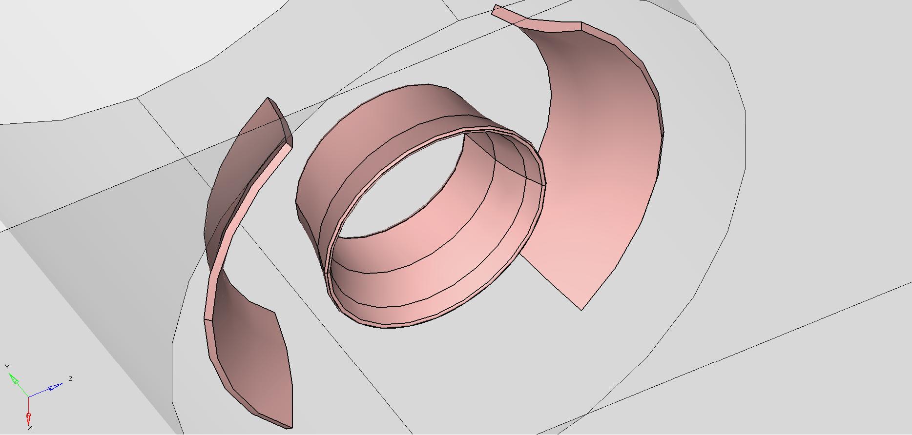 Diverter geometry details